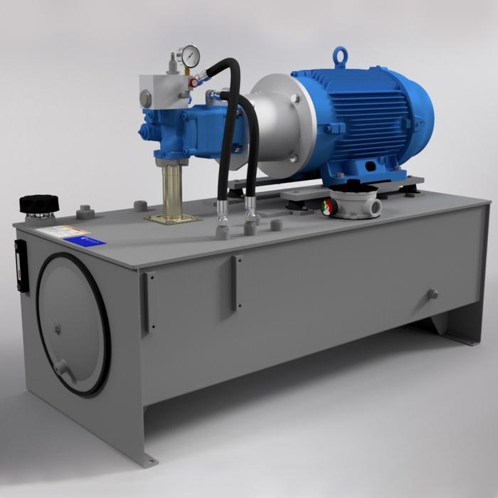 50 HP High-Pressure Hydraulic Power Unit