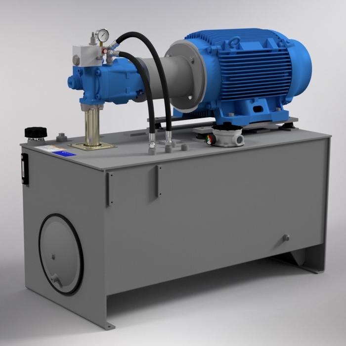 100 HP High-Pressure Hydraulic Power Unit