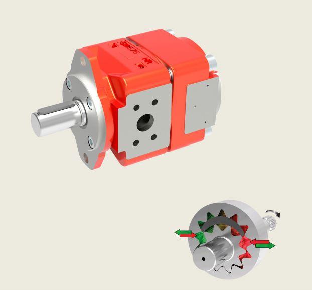 Bucher QXEM4 Gear Pump