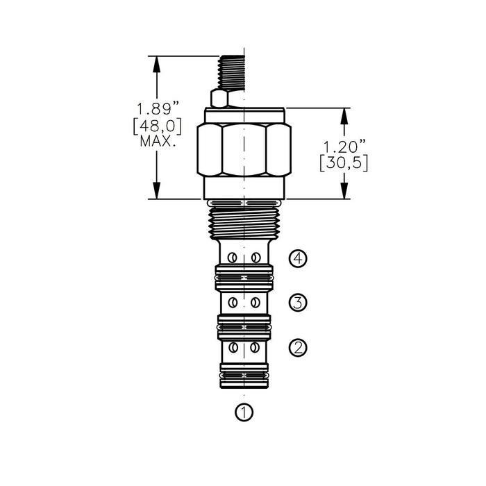 Bucher DCPS-10-B 3-way Directional Control Valve, Spool Type B