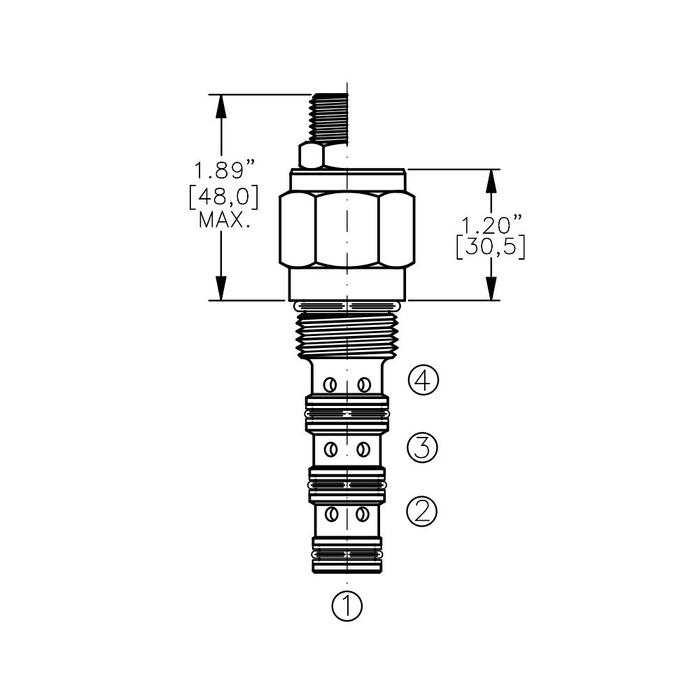 Bucher DCPS-10-D 3-way Directional Control Valve, Spool Type D