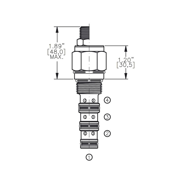 Bucher DCPS-10-G 3-way Directional Control Valve, Spool Type G