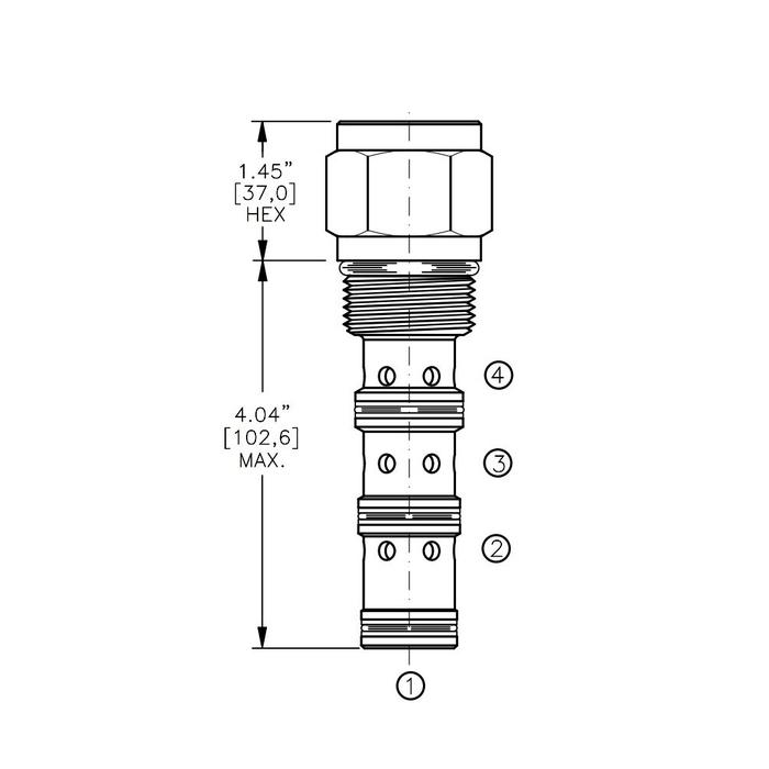 Bucher DCPS-16-D 3-way Directional Control Valve, Spool Type D