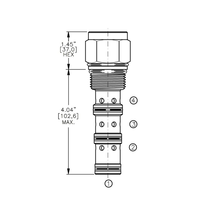 Bucher DCPS-16-G 3-way Directional Control Valve, Spool Type G