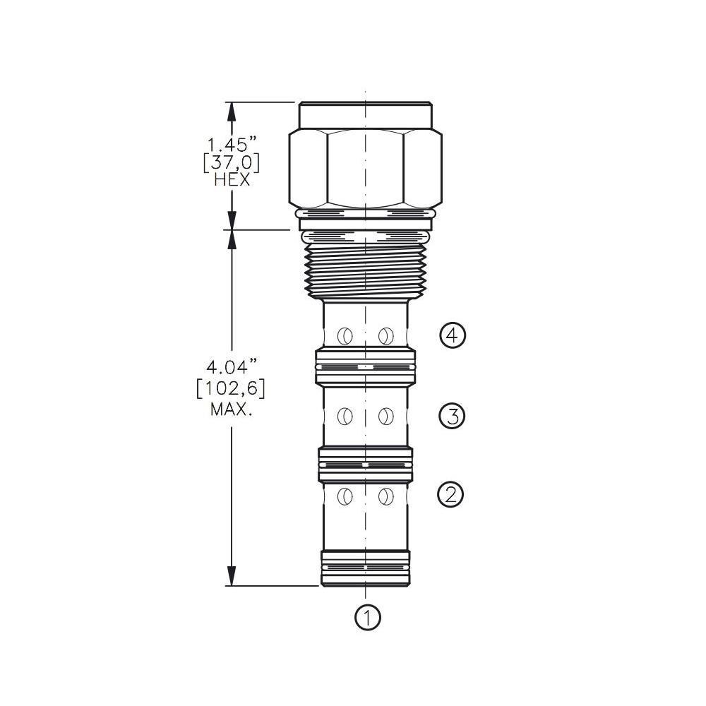Bucher DCPS-16-H 3-way Directional Control Valve, Spool Type H