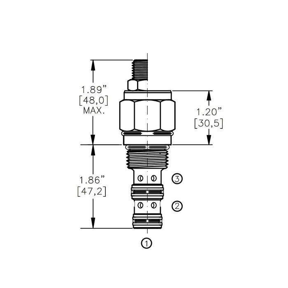 Bucher DCPV-10-O 2-way Directional Control Valve